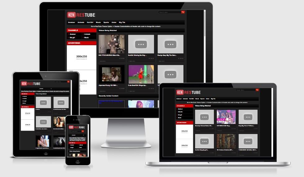 ResTube WordPress Video Responsive Theme