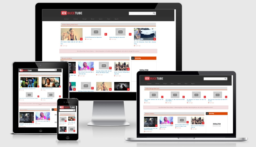 BuceTube WordPress Video Responsive Theme